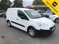 USED 2015 15 PEUGEOT PARTNER 1.6 HDI S L1 850 1d 89 BHP IN WHITE WITH **NO VAT** IN GREAT CONDITION, FULL SERVICE HISTORY AND IS ULEZ COMPLIANT  APPROVED CARS ARE PLEASED TO OFFER THIS 2015 PEUGEOT PARTNER 1.6 HDI S L1 850 IN METALLIC WHITE WITH ONLY 70500 MILES AND A FULL SERVICE HISTORY. THIS VAN IS ULEZ COMPLIANT WITH NO VAT. THIS VAN HAS A GREAT SPEC INCLUDING ABS, AIR CON, CENTRAL LOCKING, ELECTRIC WINDOWS AND MUCH MUCH MORE. FOR MORE INFORMATION PLEASE CALL THE SALES TEAM ON 01622 871555.