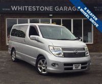 USED 2008 08 NISSAN ELGRAND 2.5 Highway Star 8 Seater 4w/d 8 SEATER, FOUR WHEEL DRIVE, HEATED LEATHER SEATS, SWIVEL CENTRE SEAT ROW, POWER SLIDING SIDE DOOR