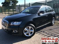 USED 2015 15 AUDI Q5 2.0 TDI QUATTRO SE START/STOP 5d 148 BHP LEATHER ONE OWNER FSH 4WD. STUNNING BLACK MET WITH FULL BEIGE LEATHER TRIM. CRUISE CONTROL. 18 INCH ALLOYS. COLOUR CODED TRIMS. PARKING SENSORS. BLUETOOTH PREP. MULTI MEDIA SCREEN. CLIMATE CONTROL. 6 SPEED MANUAL. TRIP COMPUTER. R/CD/MP3 PLAYER. MFSW. MOT 03/20. ONE OWNER. SERVICE HISTORY. SUV4X4 USED SUV CENTRE LS23 7FR. TEL 01937 849492. OPTION 2