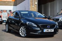 USED 2015 15 VOLVO V40 1.6 D2 SE LUX 5d AUTO 113 BHP Here we have a low mileage 2015 Volvo V40 1.6d2 SE LUX 5dr AUTOMATIC in black with just 18000 miles. Complete with 3 Volvo service stamps (plus a service by us prior to collection) and 2 keys.
