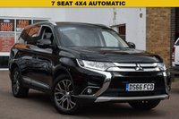 USED 2016 66 MITSUBISHI OUTLANDER 2.3 DI-D GX 3 5d AUTO 147 BHP A superb Mitsubishi Outlander 2.2 Diesel GX-3 5dr Auto in black.  Only 35302 Miles with 2 Main Dealer stamps in the book, last one at 26620 in October 2018. 2 Keys and a very well looked after example.