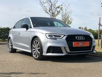 USED 2017 17 AUDI A3 2.0 TDI S-LINE BLACK EDITION 182 BHP 5DR HATCH BACK (PAN ROOF) +PANORAMIC ROOF+SAT NAV+MEDIA