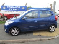 USED 2011 61 HYUNDAI I10 1.2 ACTIVE 5d 85 BHP 6 Stamps Of Service History .£20 Yearly Road Tax. New MOT & Full Service Done on purchase + 2 Years FREE Mot & Service Included After . 3 Months Russell Ham Quality Warranty . All Car's Are HPI Clear . Finance Arranged - Credit Card's Accepted . for more cars www.russellham.co.uk  Spare Key + Owners Book Pack