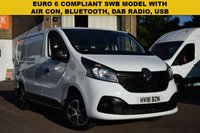 USED 2018 18 RENAULT TRAFIC 1.6 SL27 BUSINESS PLUS DCI 1d 120 BHP Euro 6 compliant 2018 Renault Trafic SWB SL27dci 120 Business + in white for just £11999 + vat.