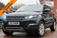 USED 2013 13 LAND ROVER RANGE ROVER EVOQUE 2.2 SD4 PURE TECH 5d 190 BHP SATELLITE NAVIGATION, LEATHER + HEATED SEATS