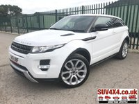 USED 2011 61 LAND ROVER RANGE ROVER EVOQUE 2.2 SD4 DYNAMIC 3d AUTO 190 BHP SATNAV LEATHER PRIVACY SATELLITE NAVIGATION. STUNNING FUJI WHITE WITH FULL BLACK LEATHER TRIM. ELECTRIC HEATED MEMORY SEATS. CRUISE CONTROL. 20 INCH ALLOYS. COLOUR CODED TRIMS. PRIVACY GLASS. PARKING SENSORS. REVERSE CAMERA. BLUETOOTH PREP. CLIMATE CONTROL INCLUDING AIR CON. MULTIMEDIA SYSTEM. R/CD/DAB RADIO. MFSW. MOT 09/20. SERVICE HISTORY. SUV4X4 USED SUV CENTRE LS23 7FR. TEL 01937 849492. OPTION 2