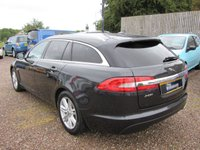 USED 2013 62 JAGUAR XF 2.2 D LUXURY SPORTBRAKE 5d AUTO 200 BHP 1 OWNER 6 JAGUAR SERVICE  STAMPS