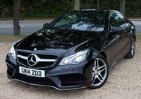 """USED 2014 14 MERCEDES-BENZ E CLASS 3.0 E350 BLUETEC AMG SPORT 2d AUTO 252 BHP/ REVERSING CAMERA/ SAT NAV ABSOLUTELY STUNNING & FULLY LOADED MERCEDES-BENZ E CLASS 3.0 E350 CDI BLUE TEC AMG SPORT 7G-TRONIC PLUS 2DR/ COMES WITH REVERSING CAMERA/ SAT NAV/ HEATED SEATS/ SUNROOF/ LED LIGHTS/ PARKING SENSORS/ ELECTRIC SEATS/ LEATHER SEATS/ 1 OWNER/ COMES WITH FULL MERCEDES-BENZ SERVICE HISTORY/// MOT 09/07/2020/ WARRANTY/ 2 KEYS/ ROAD TAX £160,- / HPI CLEARED/  BOOK A TEST DRIVE TODAY! APPLY FOR A CAR FINANCE ON OUR WEBSITE PAGE """"FINANCE""""."""