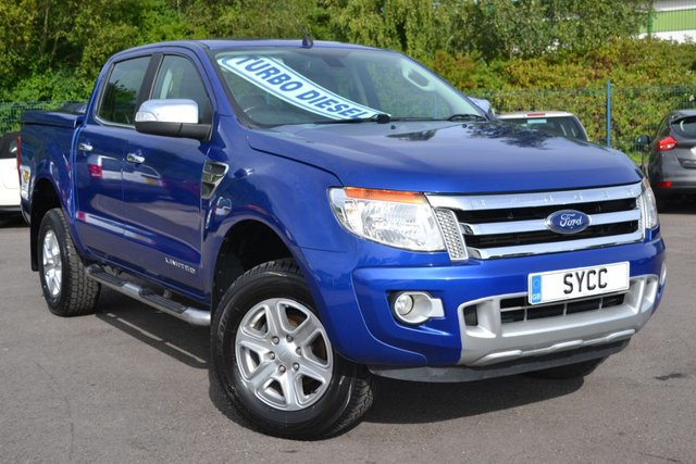 USED 2016 16 FORD RANGER 2.2 LIMITED 4X4 DCB TDCI 5d 148 BHP ~ PERFORMANCE BLUE MAXLINER BACK ~ HEATED LEATHER ~ 6 MONTHS WARRANTY ~ 12 MONTHS MOT