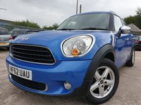 USED 2012 62 MINI COUNTRYMAN 1.6 ONE 5d 98 BHP 2KEYS+ALLOY+PARK+MOT 02/20+CD+