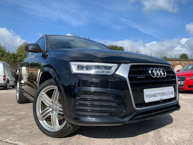 USED 2015 15 AUDI Q3 2.0 TDI QUATTRO S LINE PLUS 5d 182 BHP 2KEYS+PRIVGLASS+LEATHER+ELECS+