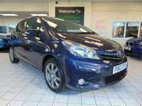 USED 2012 62 TOYOTA YARIS 1.3 VVT-I SR 5d 98 BHP FULL SERVICE HISTORY + MAY 2020 MOT + SATELLITE NAVIGATION + BLUETOOTH + REVERSING CAMERA + ALLOYS + AIR CONDITIONING + ELECTRIC WINDOWS + REMOTE CENTRAL LOCKING + POWER STEERING + GREAT MPG