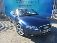USED 2008 08 AUDI A4 2.0 TDI CABRIOLET S LINE 2d AUTO 141 BHP