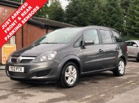 USED 2012 12 VAUXHALL ZAFIRA 1.6 EXCLUSIV 5d 113 BHP Stunning Vauxhall Zafira 1.6 Exclusiv with Full Service History, having been serviced in June 2013, March 2014, March 2015, June 2016, June 2017, June 2018 and June 2019 and an MOT to 22nd June 2020. Comes fully equipped with front and Rear Parking sensors, Privacy Glass, Air conditioning, Electric Windows, Electric Wing Mirrors, Leather Multi Functional Steering Wheel, Metallic Asteroid Grey Paint, 2 Keys and a Free Warranty. Finance Available at 9.9% APR Representative