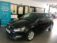 USED 2012 62 VOLKSWAGEN POLO 1.4 MATCH 5d 83 BHP Two private owners from new, full service history, March 2020 advisory free Mot. Finished in Deep Black Pearl with Black cloth seats.