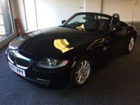 USED 2007 07 BMW Z4 2.0 Z4 SE ROADSTER 2d 148 BHP CONVERTIBLE. SAPPHIRE BLACK MET WITH BLACK CLOTH TRIM. 16 INCH ALLOYS. COLOUR CODED TRIMS. CLIMATE CONTROL INCLUDING AIR CON. R/CD PLAYER. MOT 01/20. AGE/MILEAGE RELATED SALE. P/X CLEARANCE CENTRE - LS23 7FQ. TEL 01937 849492 OPTION 3