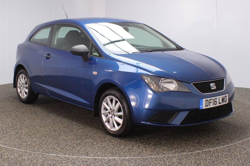USED 2016 16 SEAT IBIZA 1.0 SOL 3DR 1 OWNER 74 BHP FULL SERVICE HISTORY + £30 12 MONTHS ROAD TAX + PARKING SENSOR + BLUETOOTH + CRUISE CONTROL + AIR CONDITIONING + MULTI FUNCTION WHEEL + DAB RADIO + ELECTRIC WINDOWS + RADIO/USB/SD + ELECTRIC MIRRORS + 15 INCH ALLOY WHEELS