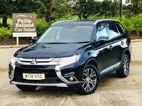 USED 2018 18 MITSUBISHI OUTLANDER 2.3 DI-D 3 5d AUTO 147 BHP 7 SEATS AWD LTHR Full leather, Cruise control, Rear parking sensors, Keyless