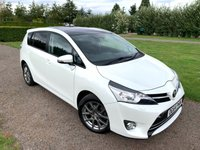 USED 2014 64 TOYOTA VERSO 1.6 D-4D EXCEL 5d 110 BHP Full Toyota History, MOT 09/20 Reverse Cam, Sat Nav Full Toyota And Specialist  Service History, Fastidiously Maintained, MOT 09/20, Recently Serviced, Sat Nav, Bluetooth Handsfree And Media Streaming, Keyless Entry And Start, X2 Keys, Reverse Camera, Half Leather Upholstery, Stop Start, Auto Lights On, Auto Wipers, Dimming Mirrors, Unmarked Alloys, X4 Recently Replaced Matching Pirelli P7 Tyres, Rear Kiddie Table Trays, Rear Built In Sunblinds, 7 Seats, Cruise Control, Cd/Stereo/Aux In Sockets, Climate Aircon, A Very Very Straight + Well Maintai