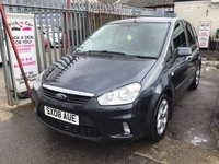 USED 2008 08 FORD C-MAX 1.8 ZETEC 5d 116 BHP Diesel mpv, full mot, 3 months warranty, valet, great value, p.x to clear.