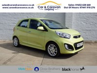 USED 2012 62 KIA PICANTO 1.2 3 5d 84 BHP One Owner Full Dealer History Buy Now, Pay Later Finance!