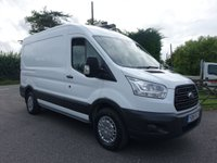 USED 2015 15 FORD TRANSIT 330 L2 H2 MWB MEDIUM HIGHTOP 2.2 TDCI 100 BHP One Company Owner 71000 Miles, Full Service History, Popular MWB Model In Very Good Condition!