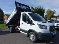 USED 2019 19 FORD TRANSIT 350 L2 MWB DRW ONE STOP TIPPER 2.0 TDCI 130 BHP  Pre Registered Transit One Stop Tipper Popular Duel Rear Wheel Model (DRW) Ford Warranty Remaining Till August 2022, Over £12000 saving On New Ford Price And Immediate Availability!