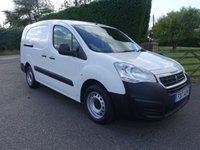 USED 2017 17 PEUGEOT PARTNER S L2 LWB 1.6 BLUE HDI 100 BHP One Company Owner Popular Van With Warranty Remaining Till June 2020, Very Clean Example!