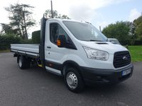 USED 2015 15 FORD TRANSIT 350 DRW  L4 EF LWB DROPSIDE 2.2TDCI 125 BHP Direct From Leasing Company Fitted With Ford One Stop Alloy Body, Well Looked After Very Clean And Genuine Viewing Recommended!