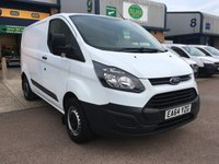 USED 2014 64 FORD TRANSIT CUSTOM 2.2 270 L1 H1 99 BHP FSH, E/W, BLUETOOTH, 3 SEATS, 6 MONTHS WARRANTY & FINANCE ARRANGED. Full Service History - 2 Services - 2 Services - Last 11/06/2018 @ 59,726 miles, Bluetooth, E/W, Radio, Drivers airbag, Factory fitted bulk head, side loading door, ply lined, Very Good Condition, 1 Owner, remote Central Locking, Drivers Airbag, Steering Column Radio Control, Barn Rear Doors, spare key, finance arranged on site & 6 months premium Autoguard warranty