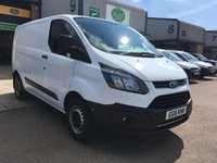 USED 2016 16 FORD TRANSIT CUSTOM 2.0 270 L1 H1 104 BHP FULL FORD SERVICE HISTORY, A/C, FINANCE ARRANGED & 6 MONTHS WARRANTY. Full Service History, Service Print - 4 Ford Main Agent Services - Last 03/07/2019 @ 68,974 miles, A/C, Rear Parking Sensors, Bluetooth, E/W, Radio, Drivers airbag, Factory fitted bulk head, side loading door, load liner, Very Good Condition, 1 Owner, remote Central Locking, Drivers Airbag, Steering Column Radio Control, Barn Rear Doors, finance arranged on site & 6 months premium Autoguard warranty
