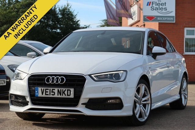 USED 2015 15 AUDI A3 1.4 TFSI S LINE 4d 148 BHP SATELLITE NAVIGATION + FINANCE AVAILABLE