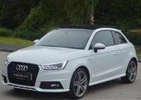 """USED 2016 16 AUDI A1 1.6 TDI S LINE 3d 114 BHP 18"""" WING ARM WHEELS & PAN ROOF."""