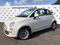 USED 2010 10 FIAT 500 1.4 CONVERTIBLE LOUNGE 100 BHP POWER ROOF