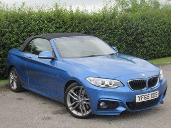 2016 BMW 2 SERIES 2.0 220D M SPORT 2d AUTOMATIC £17500.00
