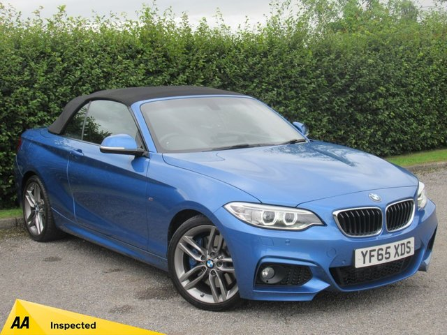 USED 2016 65 BMW 2 SERIES 2.0 220D M SPORT 2d AUTOMATIC * LOW MILEAGE * AUTOMATIC * M SPORT CONVERTIBLE *