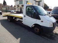 USED 2012 12 FORD TRANSIT 2.2 350 DRW VEHICLE TRANSPORTER  124 BHP 1 FORD MAIN DEALER OWNER FROM NEW,  FULL RECOVERY BED WITH RAMPS
