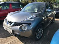 USED 2015 65 NISSAN JUKE 1.5 TEKNA DCI 5d 110 BHP SAT NAV LEATHER FSH SATELLITE NAVIGATION. STUNNING GREY MET WITH BLACK LEATHER TRIM. HEATED SEATS. CRUISE CONTROL. 17 INCH ALLOYS. COLOUR CODED TRIMS. PRIVACY GLASS. REVERSING CAMERA. BLUETOOTH PREP. CLIMATE CONTROL. TRIP COMPUTER. R/CD PLAYER. 6 SPEED MANUAL. MFSW. MOT 09/20. SERVICE HISTORY. SUV4X4 USED SUV CENTRE LS23 7FR. TEL 01937 849492. OPTION 2