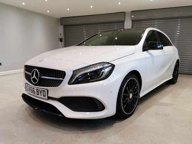 USED 2016 66 MERCEDES-BENZ A-CLASS 1.5 A 180 D AMG LINE PREMIUM PLUS 5d AUTO 107 BHP NIGHT PACK + SATELLITE NAVIGATION + REVERSING CAMERA + GLASS PANORAMIC ROOF