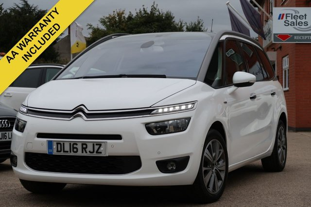 USED 2016 16 CITROEN C4 GRAND PICASSO 1.6 BLUEHDI EXCLUSIVE PLUS 5d 118 BHP REVERSING CAMERA AND PANORAMIC GLASS ROOF