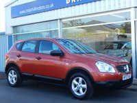 "USED 2007 07 NISSAN QASHQAI 1.6 VISIA 5dr (113bhp) ....FULL SERVICE HISTORY. AIR COND. 16"" ALLOYS. BLUETOOTH. BEAUTIFUL CONDITION."