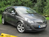 USED 2012 62 VAUXHALL CORSA 1.4 SXI 3d * 128 POINT AA INSPECTED *LOW MILEAGE CAR * 12 MONTHS FREE AA MEMBERSHIP *
