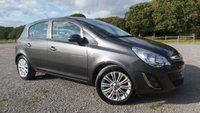 USED 2012 62 VAUXHALL CORSA 1.2 SE 5d 83 BHP SERVICE HISTORY, 1 OWNER, 2 X KEYS, ALLOYS, HALF LEATHER TRIM, AIR-CONDITIONING, REMOTE LOCKING, ELECTRIC WINDOWS, CD-PLAYER, ELECTRIC MIRRORS, METALLIC PAINT,