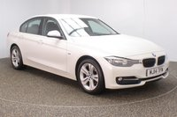 USED 2014 14 BMW 3 SERIES 2.0 316D SPORT 4DR AUTO 1 OWNER 114 BHP FULL BMW SERVICE HISTORY + £30 12 MONTHS ROAD TAX + PARKING SENSOR + BLUETOOTH + CRUISE CONTROL + CLIMATE CONTROL + MULTI FUNCTION WHEEL + DAB RADIO + ELECTRIC WINDOWS + RADIO/CD/AUX/USB + ELECTRIC MIRRORS + 17 INCH ALLOY WHEELS