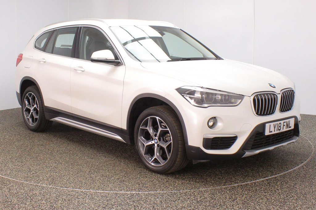 USED 2018 18 BMW X1 1.5 SDRIVE18I XLINE 5DR SAT NAV HEATED LEATHER 1 OWNER 139 BHP FULL BMW SERVICE HISTORY + HEATED LEATHER SEATS + SATELLITE NAVIGATION + PARKING SENSOR + BLUETOOTH + CRUISE CONTROL + CLIMATE CONTROL + MULTI FUNCTION WHEEL + DAB RADIO + XENON HEADLIGHTS + ELECTRIC WINDOWS + RADIO/CD/AUX/USB + ELECTRIC MIRRORS + 18 INCH ALLOY WHEELS
