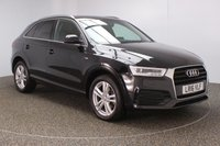 USED 2016 16 AUDI Q3 2.0 TDI S LINE NAVIGATION 5DR SAT NAV HALFLEATHER SEATS 1 OWNER 148 BHP FULL AUDI SERVICE HISTORY + £30 12 MONTHS ROAD TAX + HALF LEATHER SEATS + SATELLITE NAVIGATION + PARKING SENSOR + BLUETOOTH + CLIMATE CONTROL + MULTI FUNCTION WHEEL + DAB RADIO + PRIVACY GLASS + XENON HEADLIGHTS + ELECTRIC WINDOWS + ELECTRIC MIRRORS + 18 INCH ALLOY WHEELS