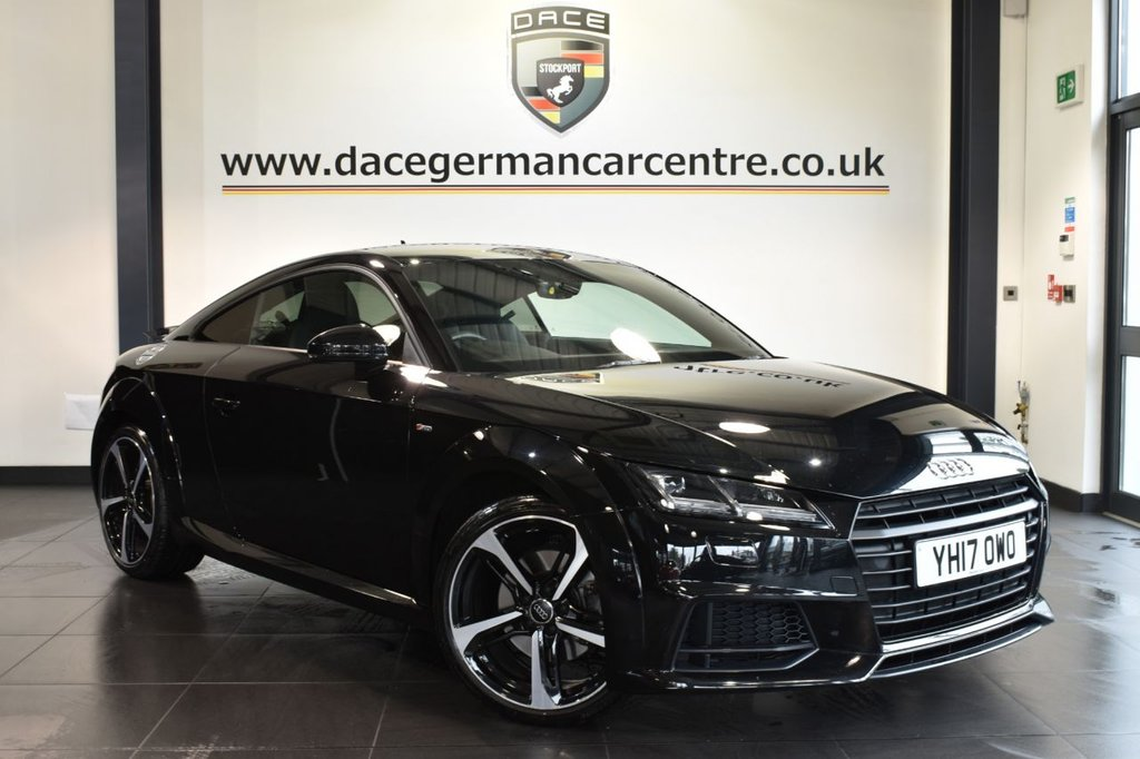 "USED 2017 17 AUDI TT 1.8 TFSI BLACK EDITION 2DR 178 BHP full audi service history Finished in a stunning mythos metallic black styled 19"" alloys. Upon opening the drivers door you are presented with half black leather interior, full audi service history, bluetooth, DAB radio, bang & olufsen surround sound, xenon lights, virtual cockpit, sport seats, heated mirrors, climate control, usb/aux port"