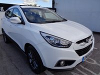 USED 2015 15 HYUNDAI IX35 1.7 SE NAV CRDI 5 door  114 BHP white £218 A MONTH WITH NO DEPOSIT CRUISE CONTROL CLIMATE CONTROL BLUETOOTH SAT NAV HEATED SEATS HALF LEATHER ALLOYS PARKING SENSORS