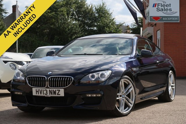 USED 2013 13 BMW 6 SERIES 3.0 640D M SPORT 2d AUTO 309 BHP LARGE SUNROOF WIDESCREEN NAVIGATION, HEATED CREAM LEATHER