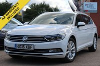 USED 2016 16 VOLKSWAGEN PASSAT 2.0 SE BUSINESS TDI BLUEMOTION TECH DSG 5d AUTO 148 BHP FULL VOLKSWAGEN SERVICE HISTORY, FRONT AND REAR PARK PILOT